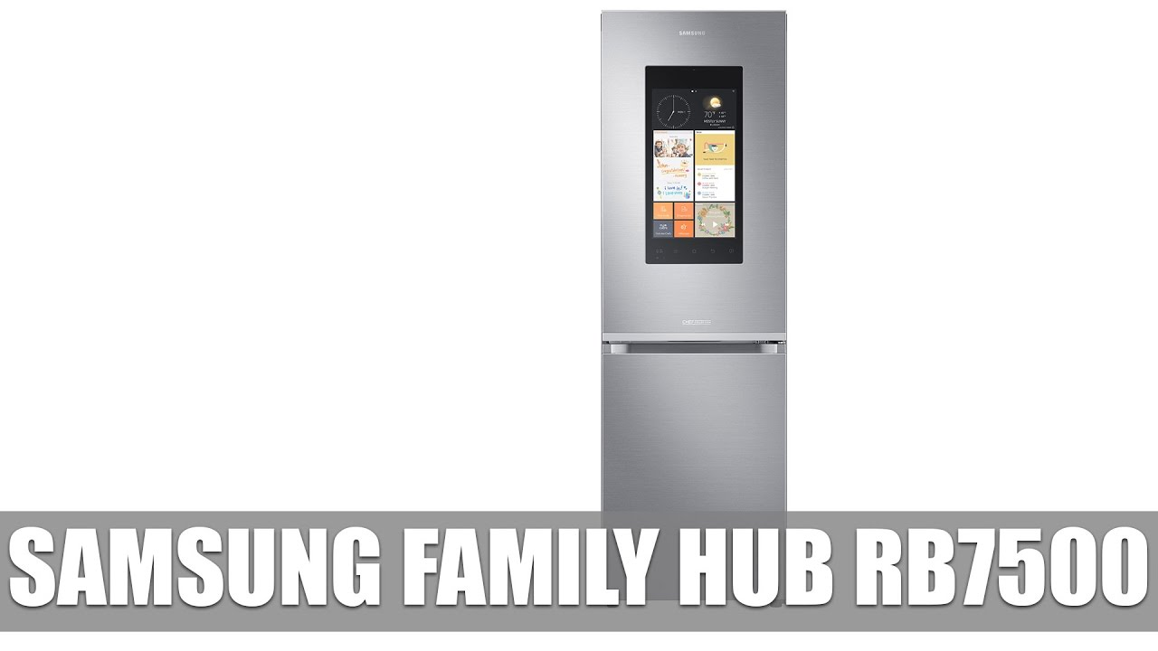 samsung family hub rb7500 k hlschrank mit tablet vorgestellt youtube. Black Bedroom Furniture Sets. Home Design Ideas