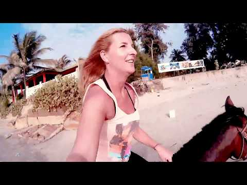 TRAVEL VIDEO - Horseriding beach Gambia - Travel around with me