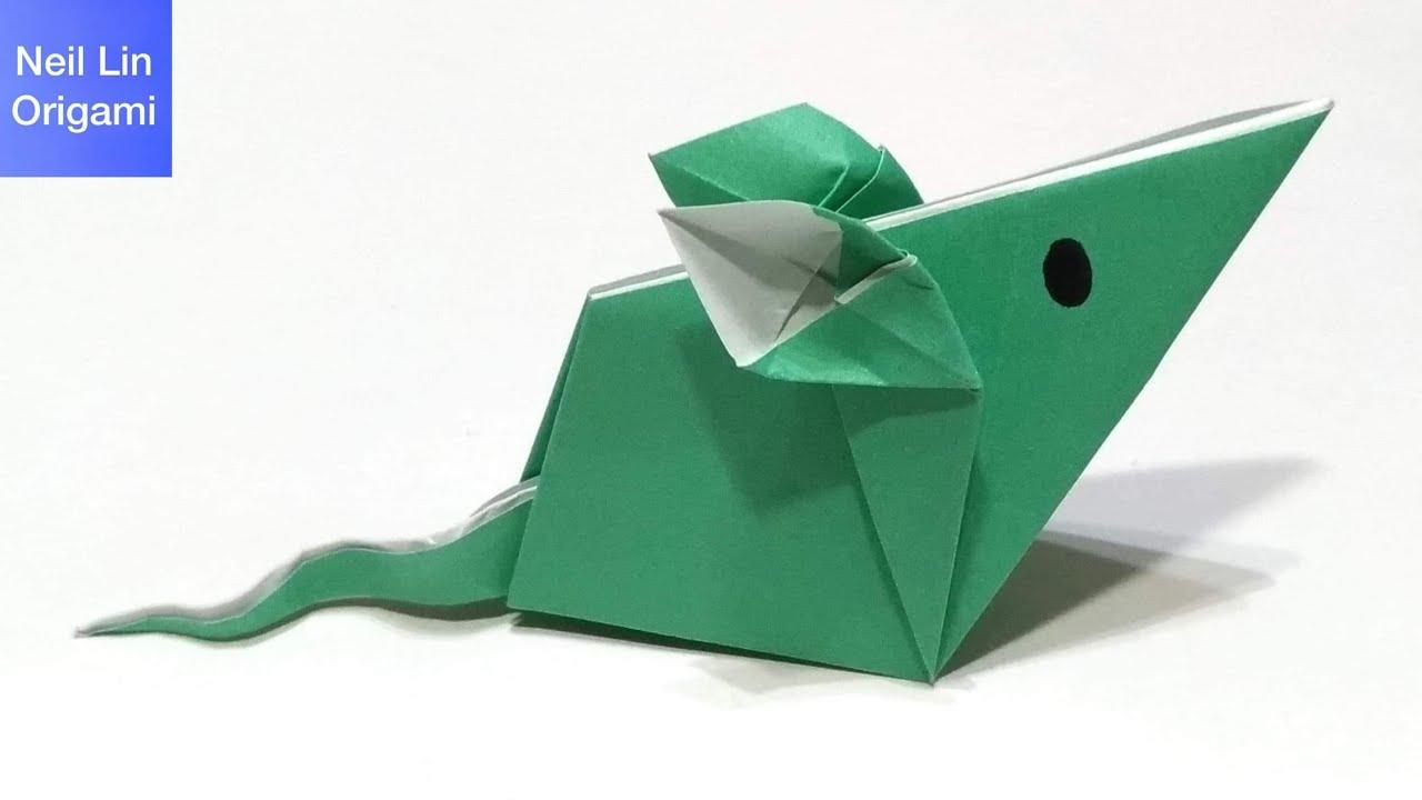 只要一張紙 讓我們用簡單的方法制作一只可愛的小老鼠 兒童折紙 - 老鼠折紙教學 - YouTube
