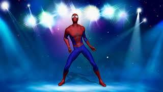 Человек паук танцует под любую музыку в такт