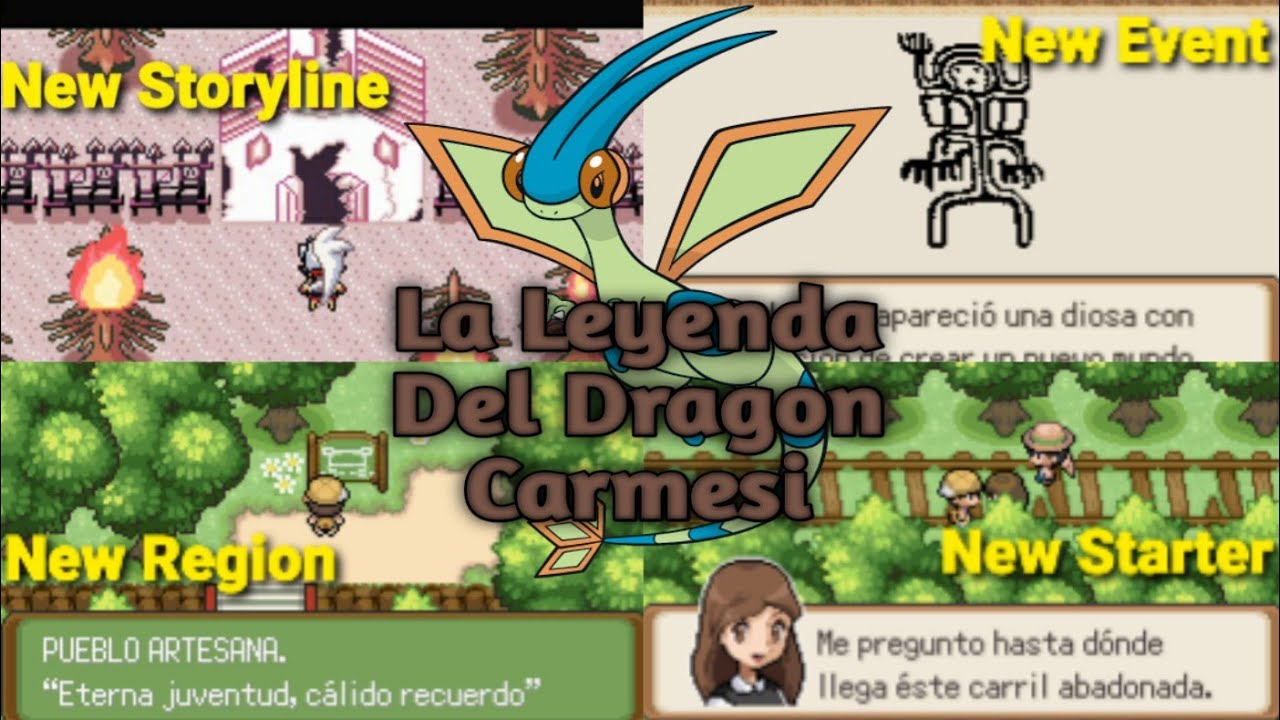Pokemon La Leyenda Del Dragon Carmesi Gba Romhack Spanish Beta1 2 New Region New Event Youtube