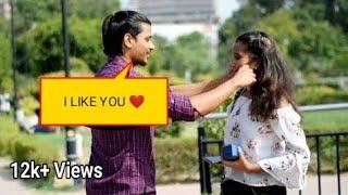 "Pulling Cute Girls Cheeks Prank || Asking "" AAPKE DIL KA RASTA"" | Prank in india |Delhi Prankstar"