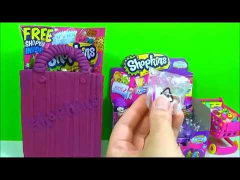 SHOPKINS Season 2 toy Eggs, Play Doh Shopkins bag Juguetes Sorpresa |