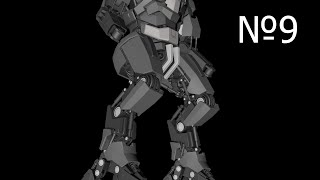 Cinema 4D: Robot: Урок №9 [HD]