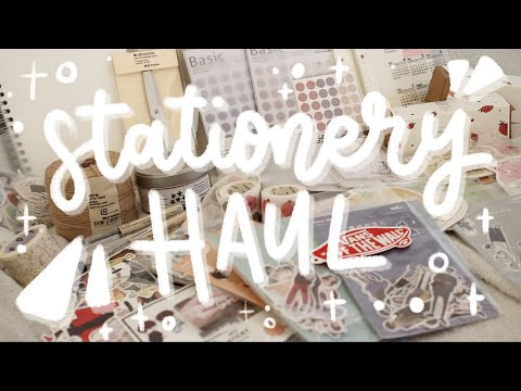 HUGE stationery haul — AliExpress & MUJI