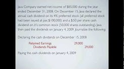Paying Cash Dividends on Stock, an example - Financial Accounting video