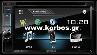 Opel Corsa with 2 Din Multimedia Kenwood ddx4017bt and Steering Wheels www.korbos.gr