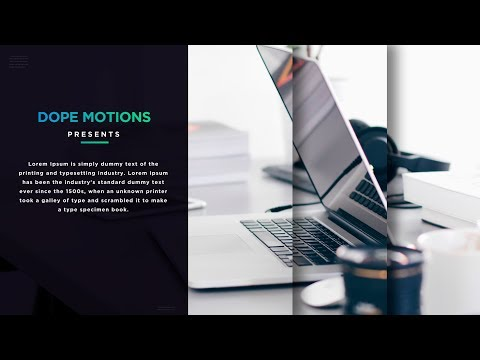 After Effects Tutorial - Minimal Slideshow in After Effects (Free Project File)