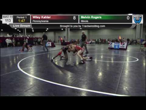 2250 Cadet Men 113 Wiley Kahler Pennsylvania vs Melvin Rogers Illinois 3617674104