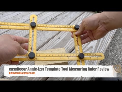 Easydecor Angle Izer Template Tool Measuring Ruler Review Youtube