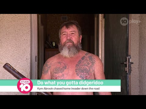 Leah Tyler - Aussie Man Chases Away Intruder With Didgeridoo...