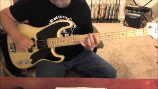"""Elvis Presley - Hound Dog - Bass Cover The best-known version of """"H..."""