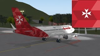 FIRST   flyMalta - Airbus 319   ROBLOX