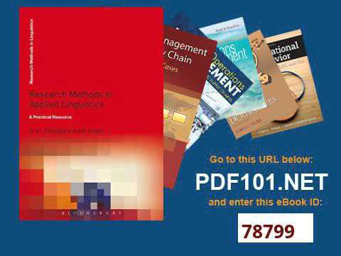 Research Methods in Applied Linguistics A Practical Resource Research Methods in Linguistics