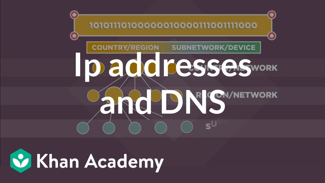 IP addresses and DNS (video) | Internet 101 | Khan Academy