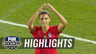 Alex Morgan scores her 100th goal for the USWNT | Women's International Friendly Highlights