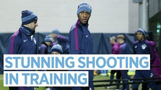 SHOOTING CONTEST! | Man City Training | City v Burnley FA Cup 3rd Round