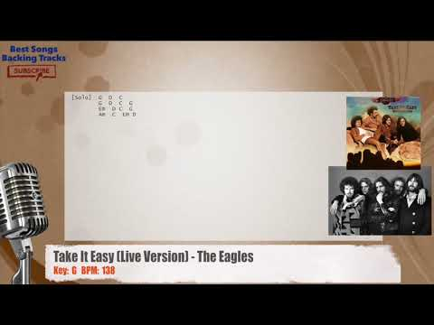 Take It Easy (Live Version) - The Eagles Vocal Backing Track with chords and lyrics