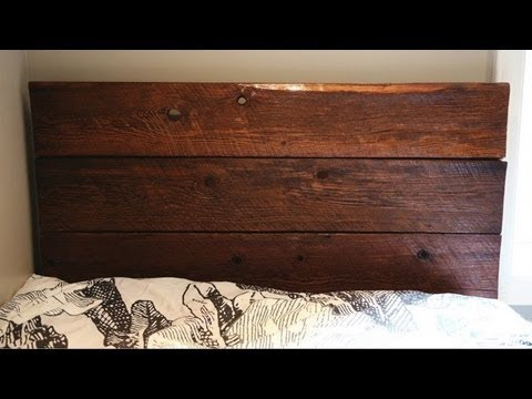 DIY BARN BOARD HEADBOARD  YouTube