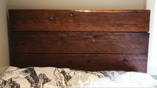 Diy Barn Board Headboard