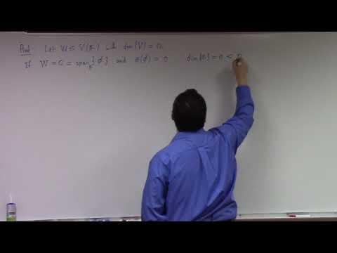 Linear Algebra: dimension theorems, linear transformation, 3-2-18