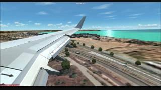 FS2004 RYANAIR 737 800 LANDING AT AEROSOFTS  MALLORCA X