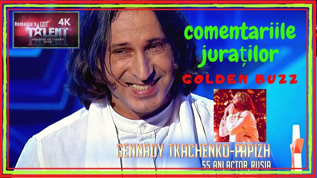 Românii au talent! GENNADY TKACHENKO-PAPIZH | GOLDEN BUZZ | COMENTARIILE JURAŢILOR 4K