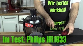 Philips HR1832 (HR1833/00) Entsafter im Test