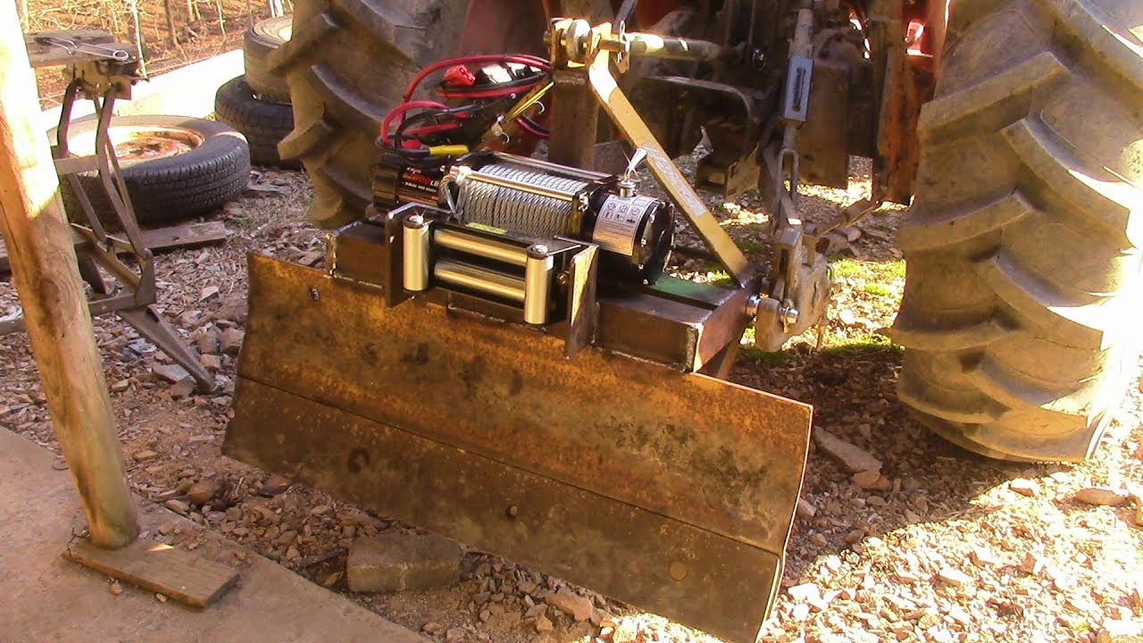 Three Point Winch : Homemade point hitch winch mount youtube