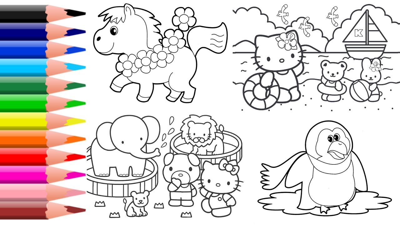 How To Color Hello Kitty Coloring Pages Minions Coloring House Coloring Page Youtube
