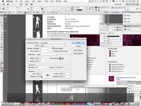 Concert Tour P4.1: Creating a CD Jewel Case using InDesign