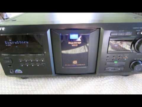 sony megastorage cdp cx455 400 cd changer youtube rh youtube com sony megastorage 200 cd manual Mega Cloud Storage