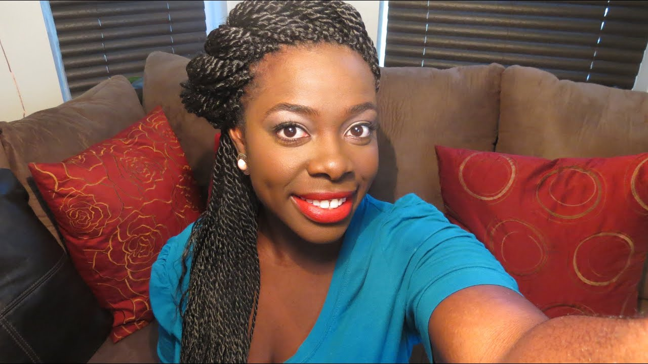 Flat Twisted Senegalese Twists Tutorial - YouTube