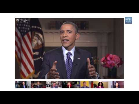 President Obama On The Penny In A Google+ Hangout