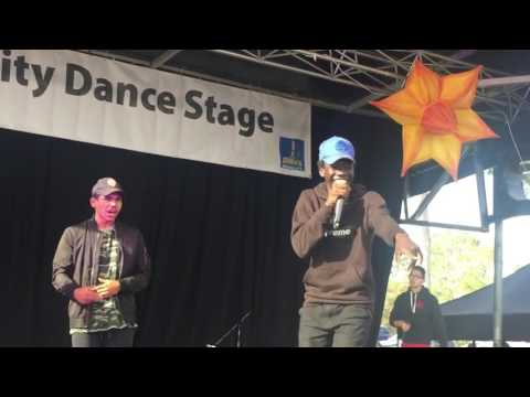 live rap free style- south Sudan crew performing at refugee day Brisbane Australia part 2 (2016)