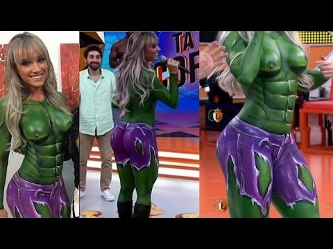 Supper Hot Body Painting Incredible Hulk Girl Youtube