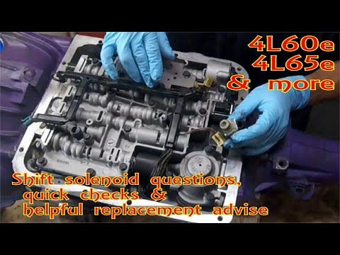 ⫷ GM 4L60-E Shift Solenoid 1-2 3-4 A and B replace p0756 p0753 p0752 ⫸