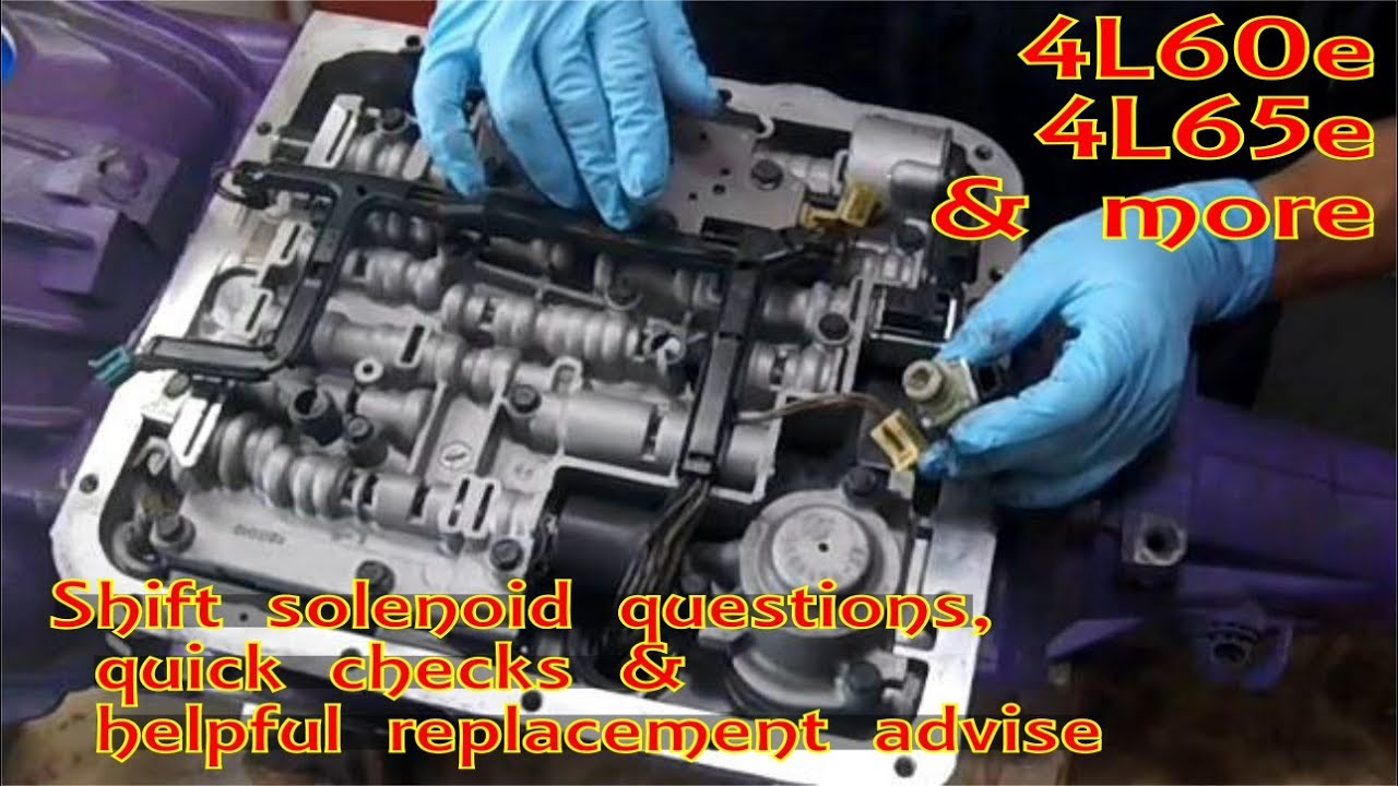 hight resolution of gm 4l60 e shift solenoid 1 2 3 4 a and b replace p0756 p0753 p0752 4l60e diagram video