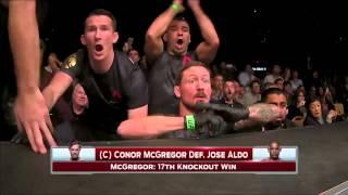 UFC 194 Conor McGregor VS José Aldo - Corner's Reaction
