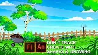 Cómo crear dibujos animados de fondo en Flash o Adobe Animate CC para la animación 2D .