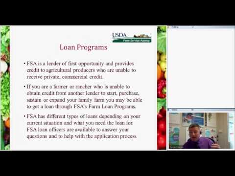 Farm Service Agency (FSA) Farm Loan Programs