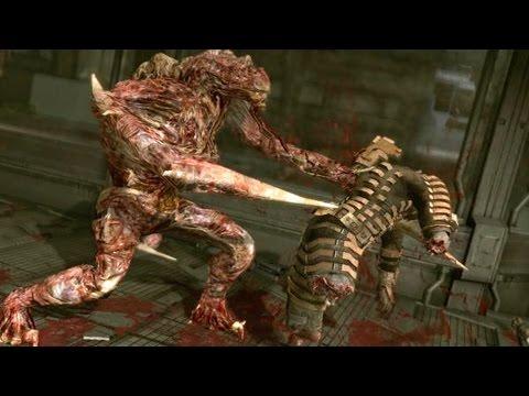 Dead Space 1 The Hunter / Regenerator boss fight