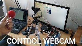 Control webcam with servo moto…