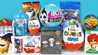 15 Киндер Сюрпризов, Unboxing Kinder Surprise LOL BOYS, Игра престолов, куклы ЛОЛ,Барби,LEGO Дисней