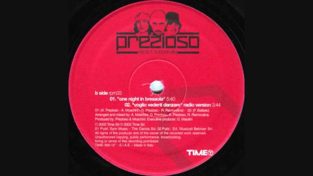 Prezioso Featuring Marvin - Voglio vederti danzare (2003 Extended version)