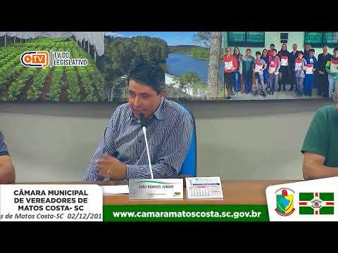 40• Sessão Ordinária da Câmara de Vereadores de Matos Costa-SC