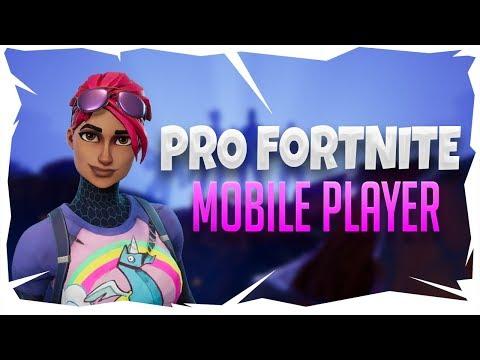 PRO FORTNITE MOBILE PLAYER | Fortnite Mobile Gameplay ...