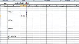 Excel: Como sumar, restar, multiplicar y dividir