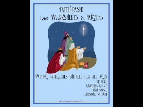 100 faith-based Christmas Worksheets and Puzzles