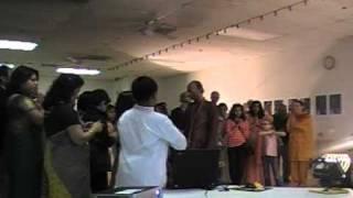 Pushpanjali by Dilip Das at Kansas City Bengali Association Saraswati Puja 2011